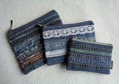 Jeans maquillaje bolsos valijas Rock Grunge reciclado apenado
