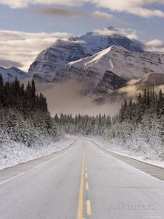 The Icefields Parkway, Banff-Jasper National Parks, Rocky Mountains, Canada Photographic Print by Gavin Hellier at http://AllPosters.com