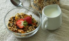 This granola is a healthier version of the high-sugar shop-bought varieties.