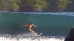 The Dope Surf Society® surfer girl, girl surfer, surfer gif, surfing gif, surfing, surfer, beach girl,