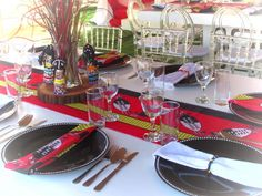 Black and Red Swazi Traditional Decor