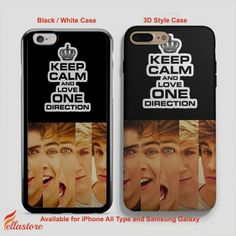 nice keep calm and love 1D, One Direction iPhone 7-7 Plus Case, iPhone 6-6S Plus, iPhone 5 5S SE, Samsung Galaxy S8 S7 S6 Cases and Other