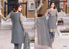 Punjabi Patiala Wedding Grey Salwar Kameez Bollywood Indian Embroidered Ethnic #Handmade #SalwarKameez