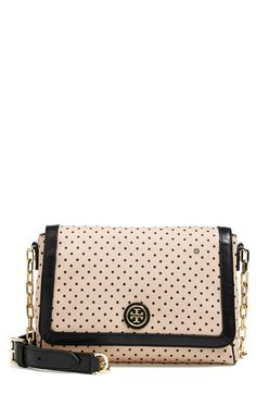 Polka dots are always cute! Love the spotted print on this pale pink Tory Burch crossbody.