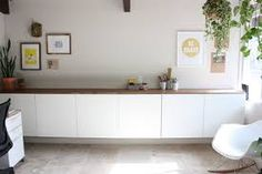 white ps ikea cabinet wooden top - Google Search