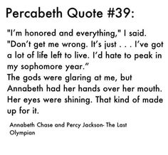 Percy turning down immortality for Annabeth