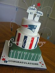 patriots grooms cake i will make this for michael!!