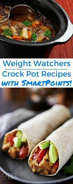 27 Weight Watchers Crock Pot Recipes with SmartPoints (the best of the best!) 27 Weight Watchers Crock Pot Recipes with SmartPoints (the best of the best! Plats Weight Watchers, Weight Watchers Smart Points, Weight Watcher Dinners, Ww Recipes, Slow Cooker Recipes, Cooking Recipes, Healthy Recipes, Crockpot Meals, Snacks