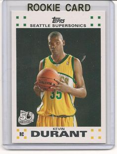 Kevin Durant 2007-2008 07-08 Topps White Rookie Card
