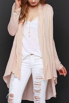 Light Pink Long Sleeve Cardigan