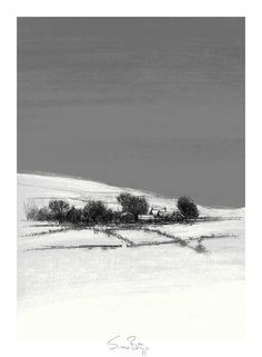 Winter view, Artist Sean Briggs producing a sketch a day, prints available at https://www.etsy.com/uk/shop/SketchyLife  ##artist ##Etsyshophttp://etsy.me/1rARc0J #farm ##illustration#ink#print#draw©#Sean_Briggs ##winter #art #drawing #sketch