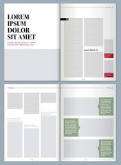 sophisticated magazine layout template