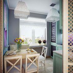 Дизайн-проект этой кухни истинное воплощение нежности и размеренности средиземноморского стиля. Такая кухня станет отличным местом отдыха от повседневной суеты.