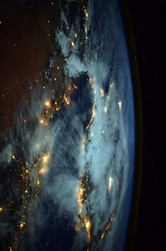 The photo taken from the International Space Station by astronaut Barry Wilmore, the commander of Expedition 42.