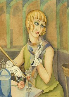 Lili Elbe by Gerda Wegener, a watercolour from 1928