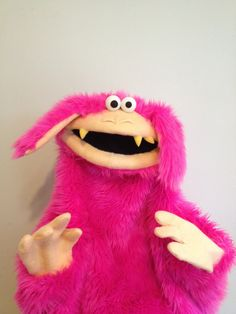 A PUPPET A DAY Pink Live Hand  Monster puppet  by apuppetaday, $300.00