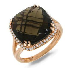 Now available on our store: 0.12ct Diamond & ... Check it out here! http://shirindiamond.net/products/0-12ct-diamond-8-62ct-smokey-quartz-14k-rose-gold-ring?utm_campaign=social_autopilot&utm_source=pin&utm_medium=pin
