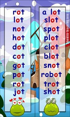 ot wordlist - FREE Printable Bookmark or Wordlist - Ideal for phonics lessons and phonics practice.