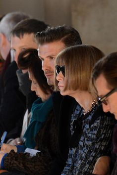 Front Row at Victoria Beckham's Fall 2013 Show