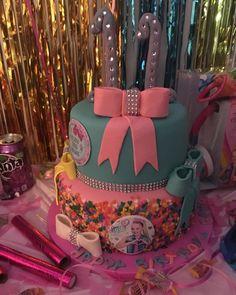 Jojo Siwa 2-tier Birthday Cake