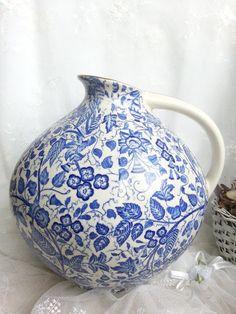 Vintage Vasen - Porzellanvase,Vintage,Blau - ein Designerstück von san-i-san bei DaWanda