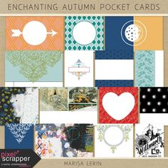Enchanting Autumn Pocket Cards Kit | digital scrapbook | fall, halloween, fairy tale, project life, pocket scrapping, journal cards