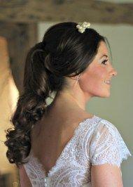 ponytail wedding hair by www.ameliagarwood.com