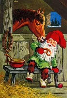 David de Kabouter: lantaarn David the Gnome: lantern ile ilgili görsel sonucu Swedish Christmas, Christmas Gnome, Scandinavian Christmas, Vintage Christmas, Vintage Cards, Vintage Postcards, David The Gnome, Kobold, Elves And Fairies