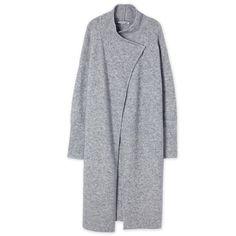 Longline Cardigan (349 AUD) ❤ liked on Polyvore featuring tops, cardigans, longline top, long line cardigan and longline cardigan