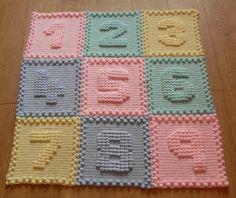 Numbers Baby Blanket Crochet PATTERN by Peach.Unicorn