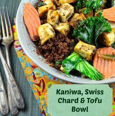 May I Have That Recipe | Meatless Monday – Kañiwa, Swiss Chard and Tofu Bowl | http://mayihavethatrecipe.com