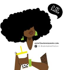 My Adorkable Illustrations♥ Black Girl Art, Black Art, Art Girl, I Love Being Black, My Black Is Beautiful, Natural Hair Art, Natural Hair Styles, Pictures To Draw, Art Pictures