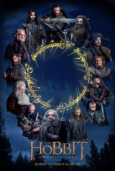 FINALLY completed my movie poster for The Hobbit! I got the Elvish ring writing from The. The Hobbit Movie Poster Hobbit Art, Fili And Kili, Lotr Movies, The Hobbit Movies, The Hobbit Characters, Elfen Fantasy, Hobbit An Unexpected Journey, Tolkien Books, Middle Earth