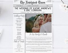 Unique Wedding Newspaper Order of Service - Free Template | Heart ...
