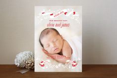An Angel is Born Holiday Photo Cards by Lori Wemple at minted.com