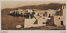 """Η γειτονία """"Βενετία"""" στη Χώρα της Μυκόνου. Myconos – Le Port. 1919 BAUD-BOVY, Daniel, BOISSONNAS, Frédéric. Des Cyclades en Crète au gré du vent, Γενεύη, Boissonnas & Co, 1919. Βιβλιοθήκη Ιδρύματος Αικατερίνης Λασκαρίδη"""