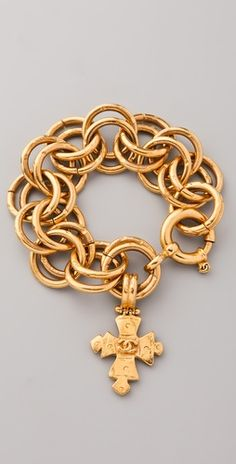 *Vintage Chanel Cross Charm Bracelet-Love this!