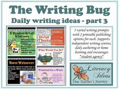 Writing Resource THE WRITING BUG 3 - daily... by One Teacher's Journey | Teachers Pay Teachers Writing Genres, Daily Writing Prompts, Writing Lessons, Distance Learning Programs, Writing Motivation, Motivational Stories, Informational Writing, School Resources, Elementary Teacher