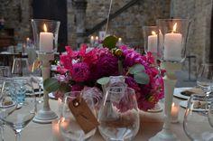 #FLORALIADECOR #CASTELLOdiVINCIGLIATA #ReceptionTable #FlowerArrangment #Candlestick #LightingCandles