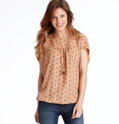 Loft - LOFT Tops - Cloudy Spot Print Bubble Hem Cocoon Blouse....love this top........me want!