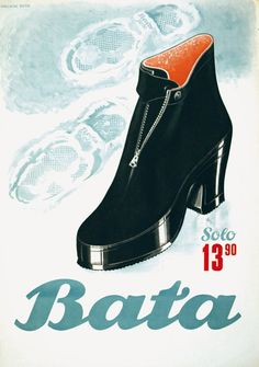 Vintage Bata poster - Anonymous - 1942  #batashoes #120years