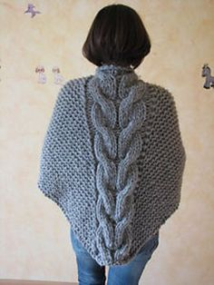 Shawl in garter st with cables