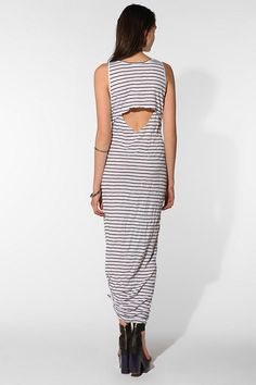 UrbanOutfitters.com > Velour Rona Striped Open-Back Maxi Dress