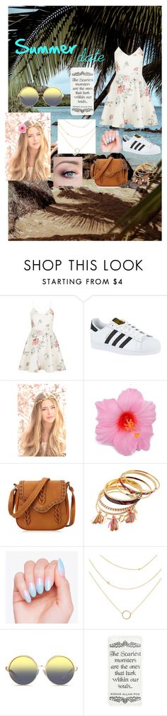 """""""Summer date"""" by eleonora199 on Polyvore featuring New Look, adidas and Matthew Williamson"""