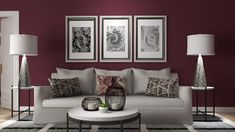 Purple Paint Colors, Purple Walls, Different Shades Of Red, Stucco Walls, Neutral Walls, Global Style, Interior Decorating, Interior Design, Design Consultant