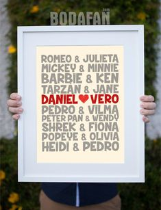 lamina-para-bodas-parejas-historia Diy Gifts For Boyfriend, Diy Wedding, Wedding Gifts, Perfect Wedding, Birthday Gifts For Teens, Women Birthday, Ideas Aniversario, Ideas Para Fiestas, Marry You