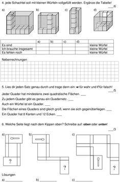 Download => Geometrie => Bau-Plan erstellen (1) | Hahmottaminen ...