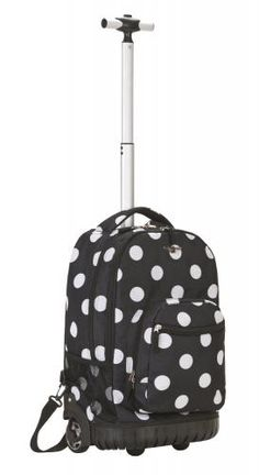 (CLICK IMAGE TWICE FOR UPDATED PRICING AND INFO) #outdoor #luggage #travelbag #travel Rockland Luggage 19 Inch Rolling Backpack Printed - See More Valentines Gift at See, you can't not look at polka dots http://www.zbuys.com/level.php?node=6091=valentines-gifts-for-couples