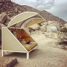 Experimental Cabins in the Mojave Desert