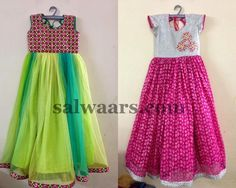 Simple Long Frocks - Indian Dresses